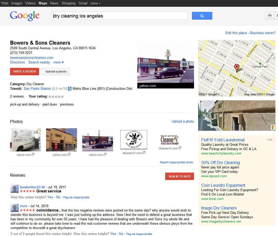 google places seo los angeles google maps seo los angeles. Black Bedroom Furniture Sets. Home Design Ideas